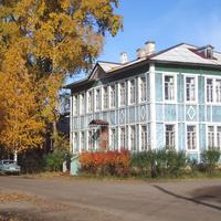Здание постройки 1905 года, сейчас - библиоткеа