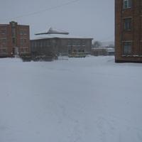 Зимняя центральная площадь пос.Прутского