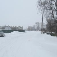 Улица Весенняя. Снегопад, март 2013