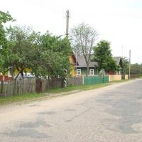 Дома по улице деревни Барово