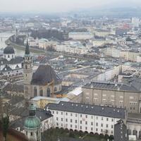 Вид на город из крепости Хоэнзальцбург