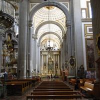 Puebla - interior view of the cathedral