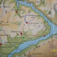 с.Подгорное туристическая карта