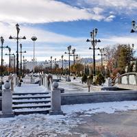 Зимний Ашхабад. Аллея Вдохновения./Winter Ashgabat. Walk of Inspiration.