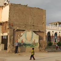 Писко,  стена кафедрального собора после землетрясения