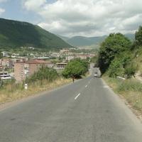 Горис, въезд в город по дороге Горис - Степанакерт