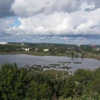 Дудергофские высоты. Воронья гора. Вид на Красное Село и Виллози.