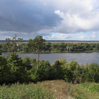 Дудергофские высоты. Воронья гора. Вид на Можайское (Дудергофское) озеро.