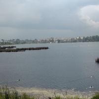 Можайское (Дудергофское) озеро, на  горизонте Виллози.