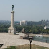 Вид на Белград со смотровой прощадки виз крепости.