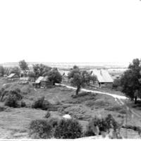 Сенчуково. Июль 1972 года. Вид с берёзы на Школьной горе.