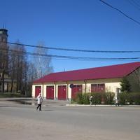 Пожарная часть. Каланча - бывшая колокольня.