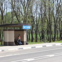 Крутой Лог. Автобусная остановка.