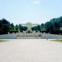 Вена, в парке дворца Шенбрун