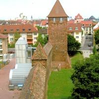 Вормс, городская стена с башней