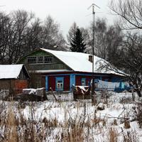 Зима, Малино, дом