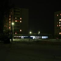 Зимним вечером у магазина