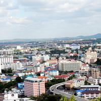 Вид на город из окна гостиницы