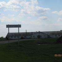 въезд в Струговку, впереди ферма