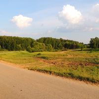 Дорога в деревне Старое