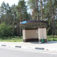 Ржавец. Автобусная остановка по направлению в Шебекино.