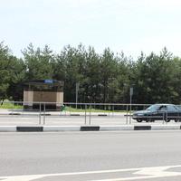 Ржавец. Автобусная остановка по направлению в Белгород.