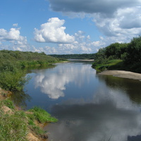 Вид на реку Ветлуга со стороны деревни Чухломка
