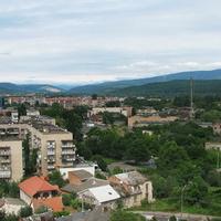 Вид на город с территории замка