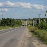 Окраина деревни, впереди Венев