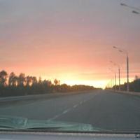 закат.выезд с города