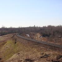 Октябрьская ж.д (Рыбинская) вид в сторону Любницы.
