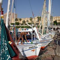 Яхты у причала в Луксоре
