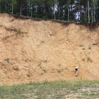 Карьер в котором раньше добывали белый камень для построек в деревне.