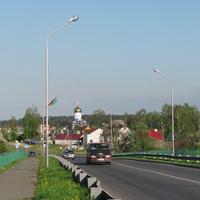 Вид с путепровода на район Бохоново
