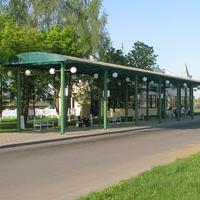 Посадочные платформы на автостанции