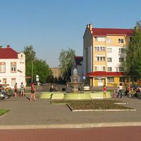Фонтан возле площади