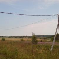 Вид на Ершники из села Фатьяново
