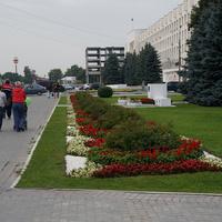 Мемориальный парк. Памятник на месте где 11 декабря 1905 года царские войска разогнали политическую демонстрацию рабочих Коломны