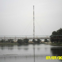 Подвесной мост через реку Большой Узень