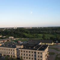 Полоцк, Софийский собор и Трест 22 с высоты 12 этажа
