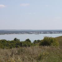 Пристень. Вид с хутора на другую часть Белгородского водохранилища.