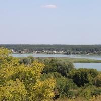 Пристень. Вид с хутора на противоположный берег Белгородского водохранилища.