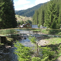 Мостик через реку Теребля