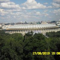 Вид на Москву с Воробьевых гор: стадион Лужники