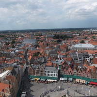Brugge. View of Grote Markt