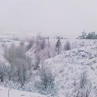 Зимой на горе