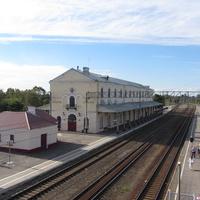 Любань,  ж/д вокзал, вид сверху