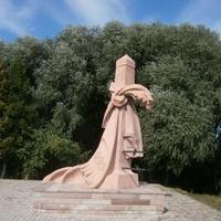 Пам'ятний знак жертвам голодомору на межі Тернопільської і Хмельницької областей.
