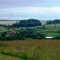 Вид на Покровское с дороги на Теплое