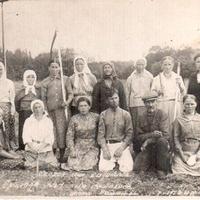 Ченебечиха. Колхозники на покосе (фото 1952г.)